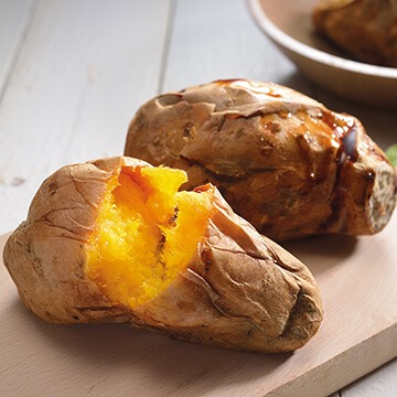 Frozen Baked Sweet Potato