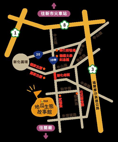 地瓜生態故事館-地圖